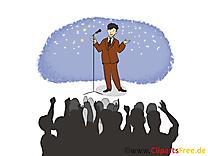 Présentateur finances illustration gratuite