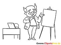 Professeur dessin à colorier – Finances clip arts gratuits
