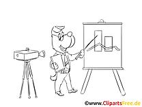 Projecteur clip art à colorier – Finances dessin
