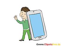 Smartphone dessins gratuits – Finances clipart