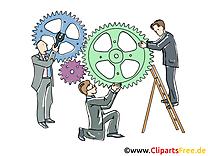 Travail d'équipe cliparts gratuis – Finances images