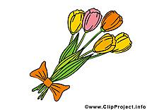 Bouquet dessin – Fleurs clip arts gratuits