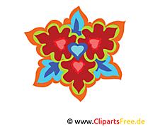 Kaléidoscope clipart gratuit – Fleurs images