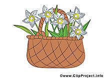 Panier clipart gratuit – Fleurs images