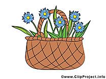 Panier dessins gratuits – Fleurs clipart