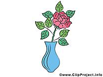 Rose vase dessin – Fleurs cliparts à télécharger