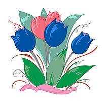 Tulipes clip art – Fleurs gratuite