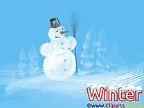 Bonhomme de neige clipart - Fonds d'écran dessins