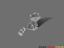 Chat noir et blanc fonds d'écran dessin gratuit