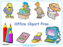 Office clip art fond d'écran gratuit