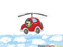Voiture volante dessin - Fonds d'écran image