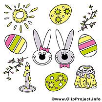 Objets dessin - Pâques clip arts gratuits