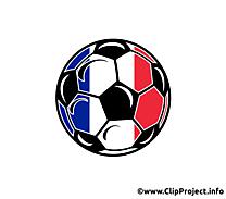 Ballon de foot avec des couleurs drapeau français