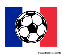 Ballon de foot France clipart gratuit