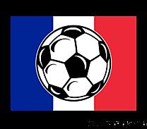 Ballon de foot France clipart gratuit