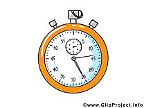 Chronomètre dessin - Football clip arts gratuits