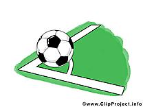 Corner clip arts gratuits - Football illustrations