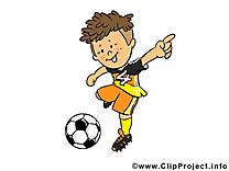 Coup clip art gratuit - Football dessin