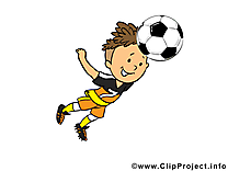 Coup de tête dessin - Football clip arts gratuits