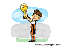 Coupe dessin - Football cliparts à télécharger