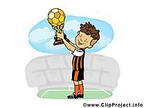 Coupe dessin - Football cliparts à télécharger