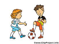 Enfants cliparts gratuis - Football images