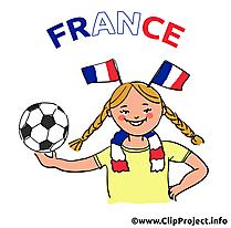 Femme française football clip art image