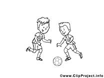 Football image à colorier gratuite