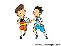 Football image gratuite - footballeurs cliparts