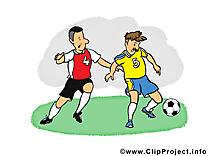 Footballeurs clip arts gratuits - Football illustrations