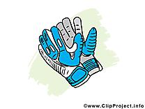 Gants clipart - Football dessins gratuits