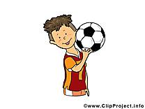 Garçon dessin - Football à télécharger
