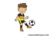 Garçon illustration - Football images