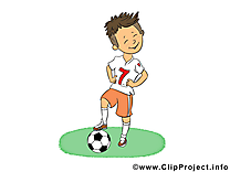 Garçon illustration gratuite - Football clipart