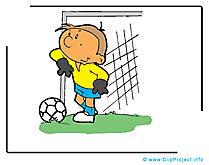 Gardien de but clipart gratuit - Football images