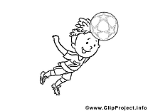 Image à imprimer football clipart