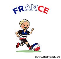 Joueur de football clipart France