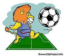Lion images - Football clip art gratuit