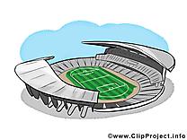 Stade image gratuite - Football illustration