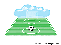 Terrain clip art gratuit - Football dessin