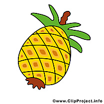 Ananas clip art gratuit - Fruits dessin