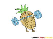 Ananas dessin à télécharger - Fruits images