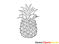 Ananas images à colorier - Fruits dessins gratuits