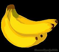 Bananes dessin gratuit - Fruits image