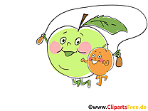 Clip arts gratuits fruits illustrations