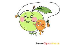 Clip arts gratuits fruits illustrations