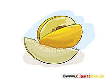 Melon clip art gratuit - Fruits dessin