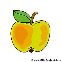 Pomme image gratuite - Fruits illustration