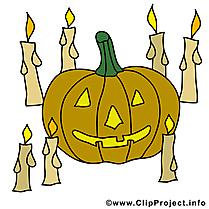 Bougies image à télécharger - Halloween clipart