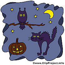 Chat noir clipart - Halloween dessins gratuits